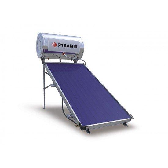 Pyramis Ηλιακός Θερμοσίφωνας 120lt Επιλεκτικού Συλλέκτη Διπλής ενέργειας (026000205)