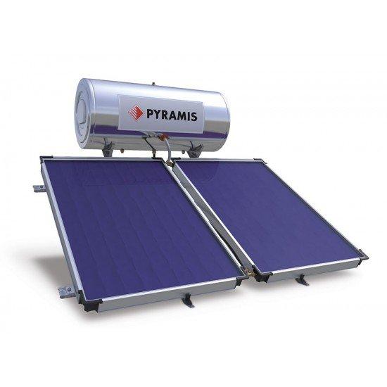 Pyramis Ηλιακός Θερμοσίφωνας 200lt Επιλεκτικού Συλλέκτη Διπλής ενέργειας (026000505)