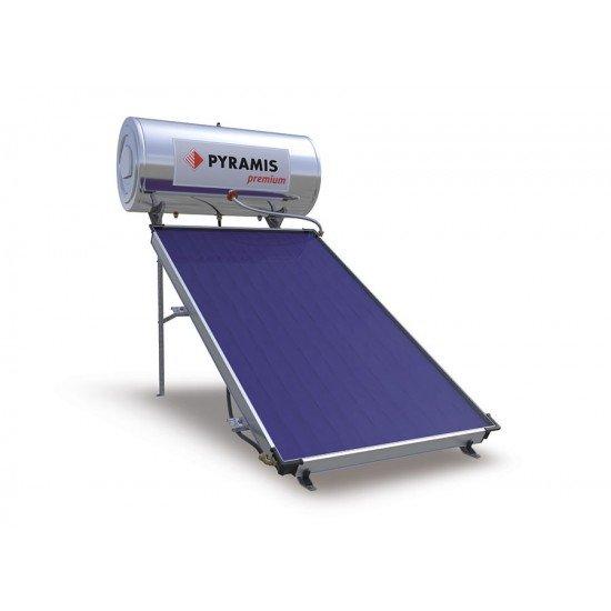 Pyramis Ηλιακός Θερμοσίφωνας 160lt Επιλεκτικού Συλλέκτη Premium Διπλής ενέργειας (026002301)