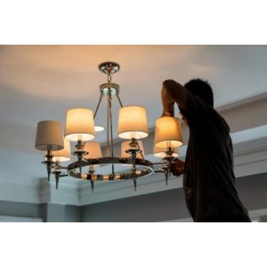 Τοποθέτηση φωτιστικού οροφής