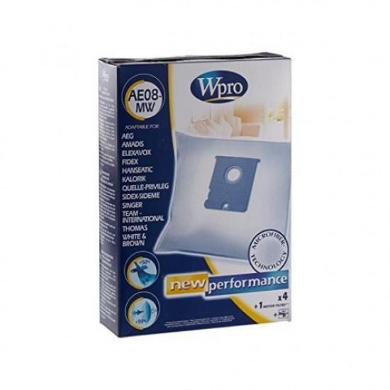 Wpro AE08-MW Σακούλα μικροϊνών για ηλεκτρικές σκούπες (συμβατή και με AEG Vampyr, Singer VC.. κ.α)